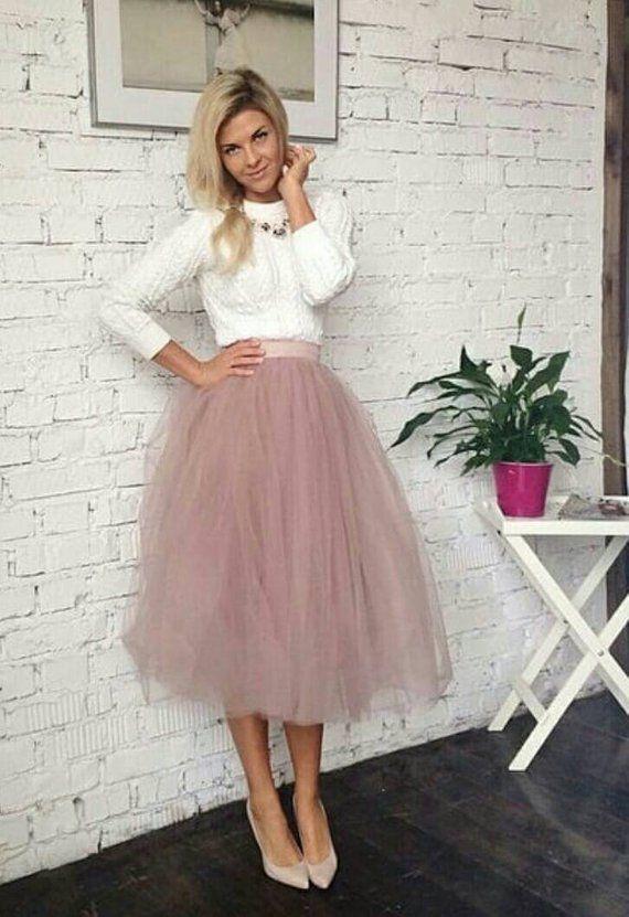 Blush Tulle Skirt, White and Blush Tulle Skirt Bridal, Women Tulle .