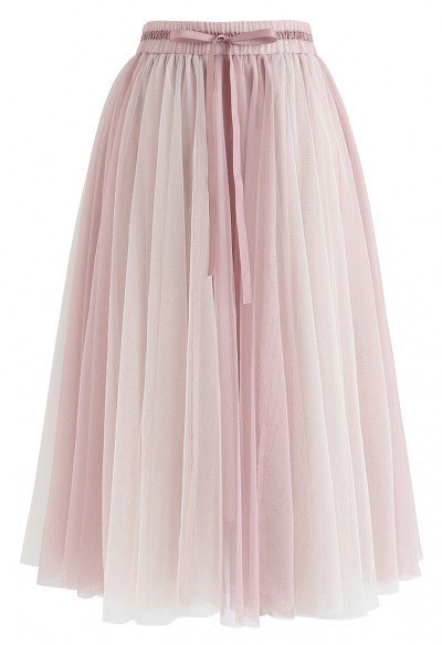Amore Mesh Tulle Skirt in Pink - Retro, Indie and Unique Fashi