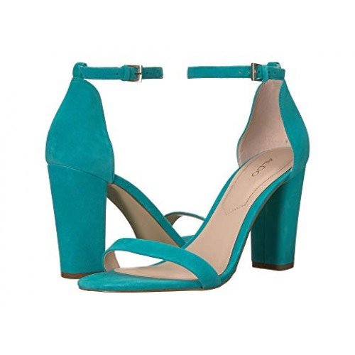 ALDO Myly Heeled Sandal Upper made of suede leather. Turquoise .
