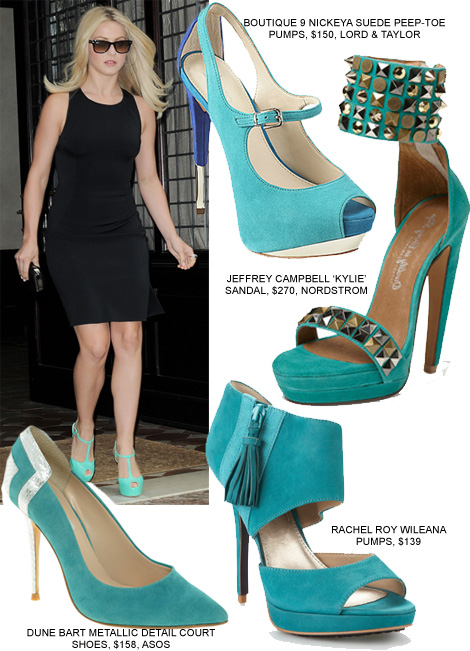 Update Your LBD With Turquoise Pumps Like Julianne Hough | FASHI