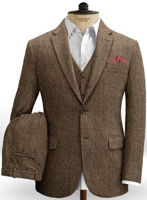 Rust Herringbone Tweed Suit : StudioSuits: Made To Measure Custom .