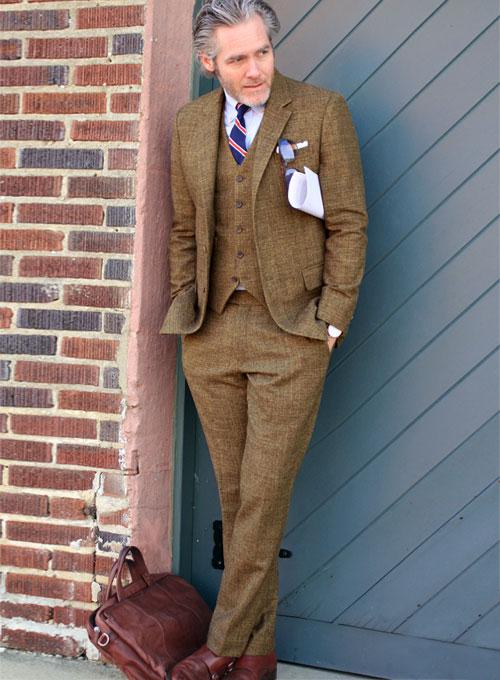 Vintage Glasgow Brown Tweed Suit - Ready Size : StudioSuits: Made .