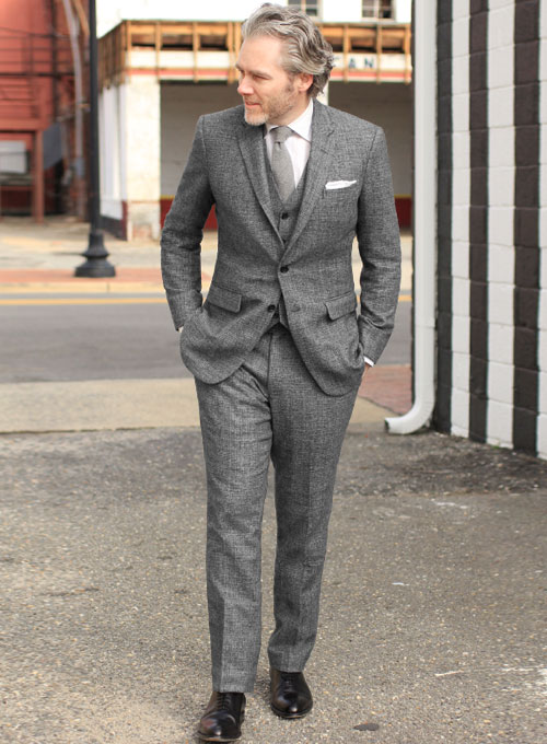 Vintage Glasgow Gray Tweed Suit - Ready Size : StudioSuits: Made .