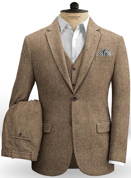 Irish Brown Herringbone Tweed Suit : StudioSuits: Made To Measure .