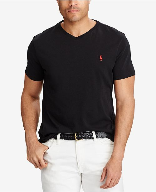 Polo Ralph Lauren Men's Big & Tall Classic Fit V-Neck T-Shirt .