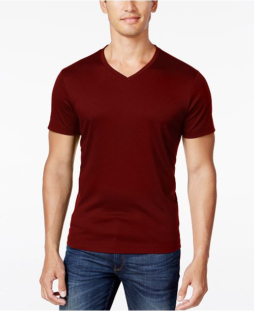 Alfani Men's Soft Touch Stretch V-Neck T-Shirt, Created for Macy's .