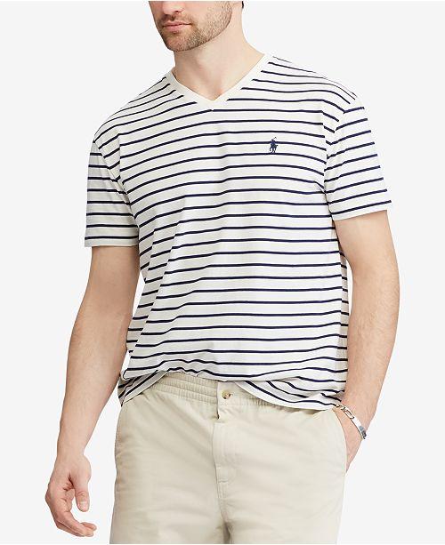 Polo Ralph Lauren Men's Classic Fit Striped V-Neck T-Shirt .