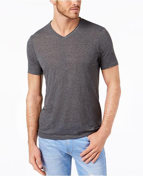 GUESS Men's Raw Edge V-Neck T-Shirt & Reviews - T-Shirts - Men .