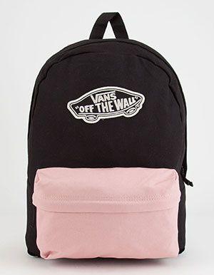VANS 2 Tone Realm Backpack Pink | Vans school bags, Vans bags .
