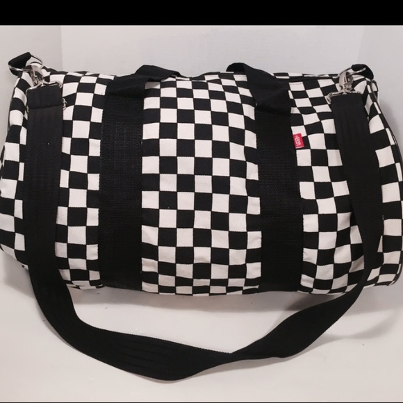 Vans Bags | Checkered Duffle Crossbody Bag | Poshma