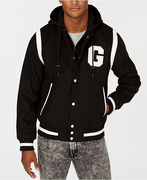 GUESS Men's Hooded Varsity Jacket & Reviews - Coats & Jackets .