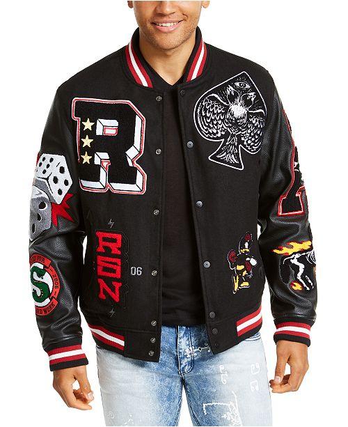 Reason Men's Spoiler Varsity Jacket & Reviews - Coats & Jackets .