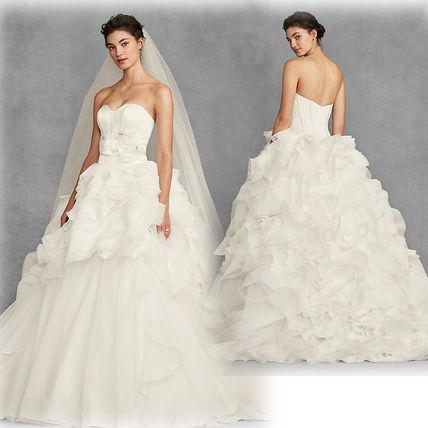 Shop Vera Wang 2018 SS Plain Long Wedding Dresses (VW351411) by .