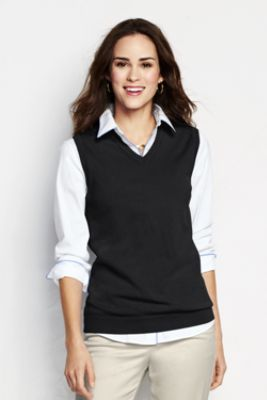 Women's+Performance+V-neck+Sweater+Vest+from+Lands'+End | Sweater .