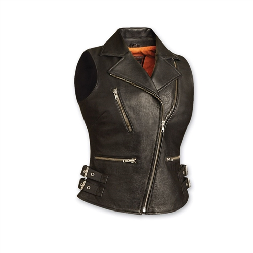 Women's Leather Biker Vests - First Classics - Free Shippi