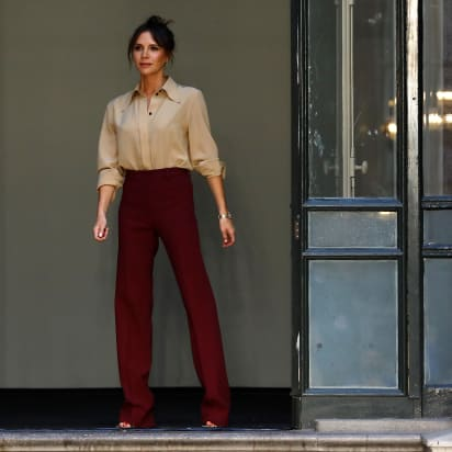 Victoria Beckham launches beauty line during London Fashion Week .