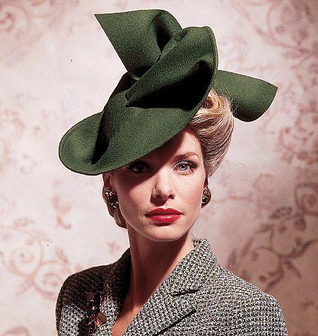Vintage hat... | Vintage vogue patterns, 1940s ha