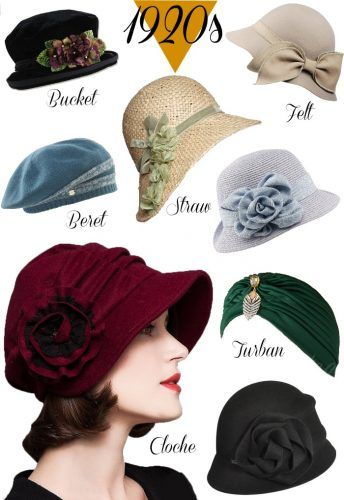 1920s Style Hats for a Vintage Twenties Look | Hats vintage .