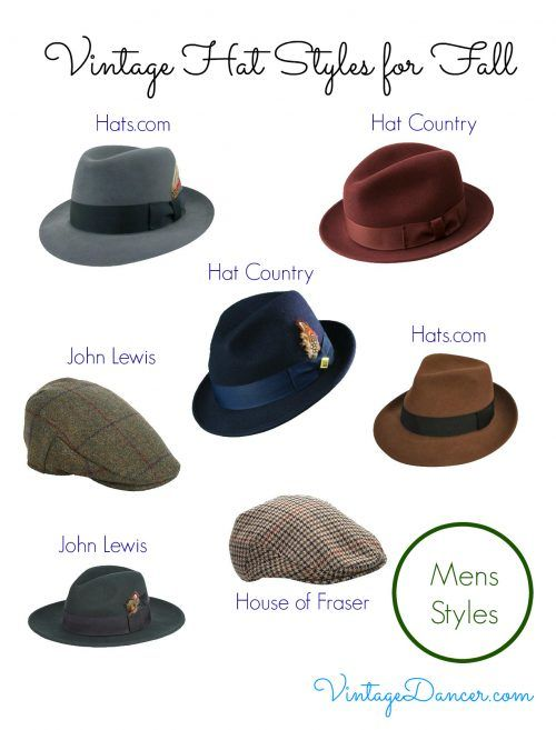 Vintage Hat Styles for Fall/Winter | 1940s mens fashion, Vintage .