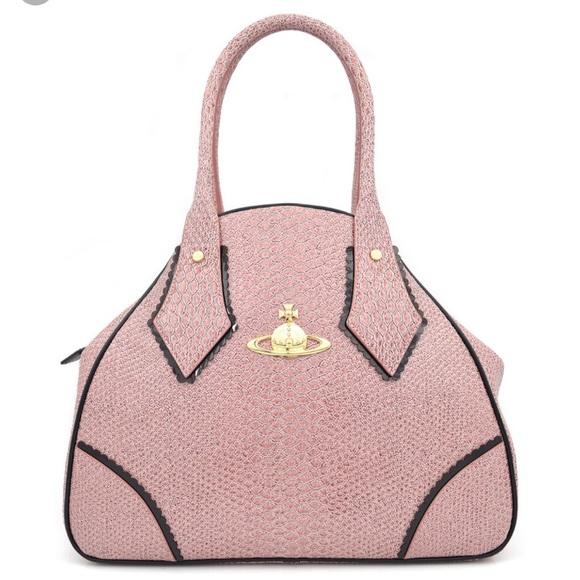 Vivienne Westwood Bags | Snake Large Yasmine Pink Bag | Poshma