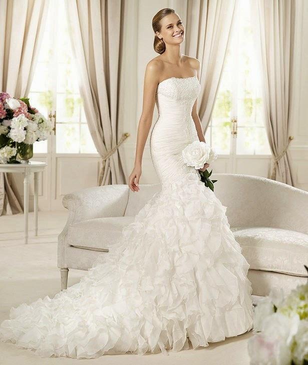 Modern Wedding Dresses: Simple for Trumpet Style Wedding Dre