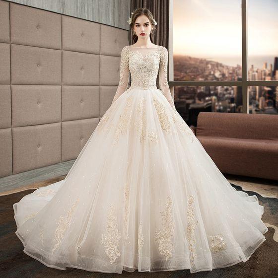 Audrey Hepburn Style Ivory Wedding Dresses 2019 Ball Gown .