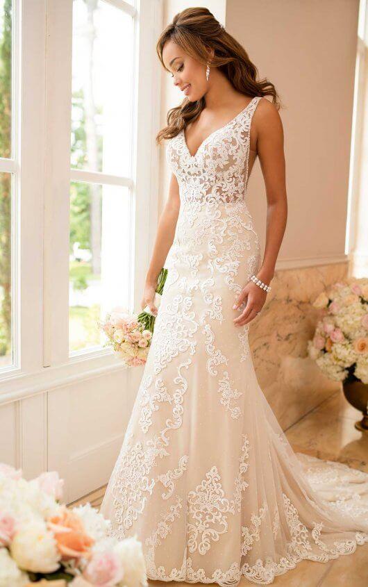 Lace Wedding Dress with Sheer Cutouts | Stella York Wedding Gow