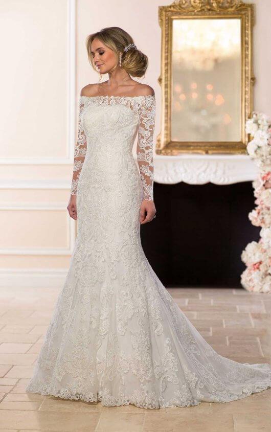Off-the-Shoulder Lace Wedding Dress | Stella York Wedding Gow