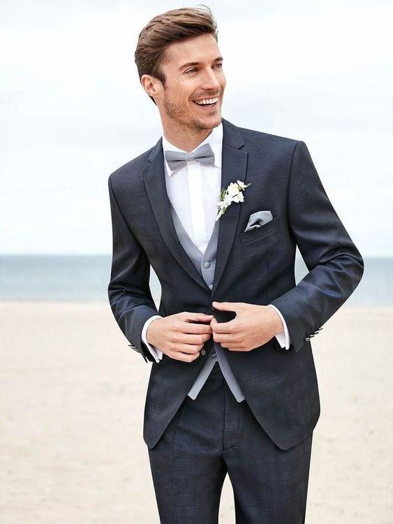 Dark grey men wedding suit   Mens Suits Ti