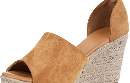 Amazon.com | Ferbia Wedges Shoes for Women Espadrilles Heels Ankle .