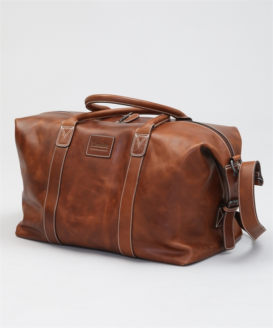 Loake Balmoral Weekend Bag-Brown Veg Tan Leather - Shoes .