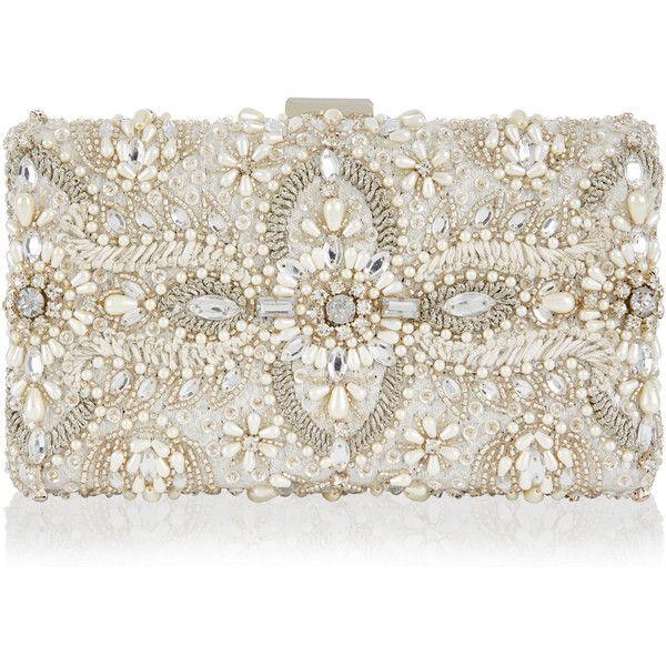 Monsoon Aimee Embellished Bridal Box Clutch Bag (5,735 DOP .