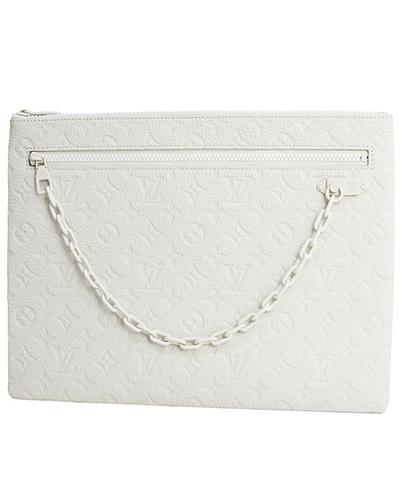 LOUIS VUITTON Pochette A4 Monogram White VIRGIL ABLOH Clutch bag .