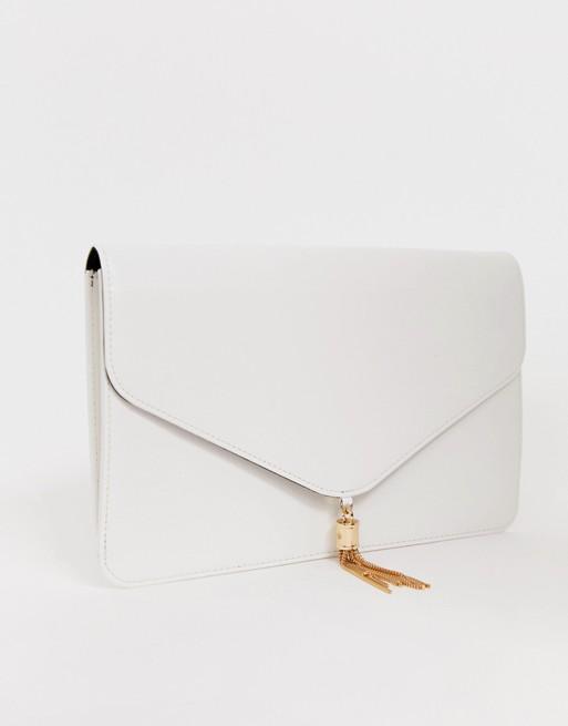 ASOS DESIGN tassel clutch bag | AS