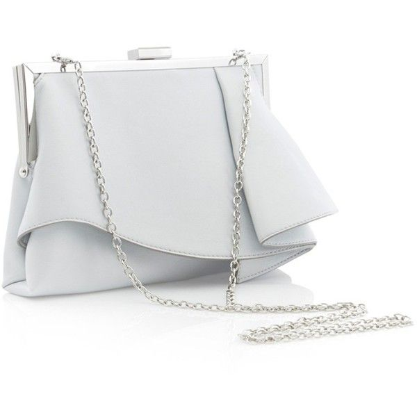 Coast Rae Ruffle Clutch Bag , Silver (345 HRK) ❤ liked on .