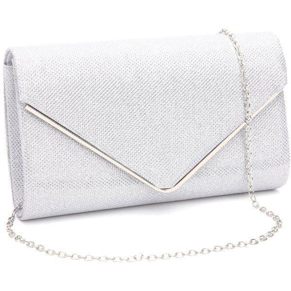 Gesu Shiny Evening Clutch, Envelope Glitter Clutch Purses Wedding .