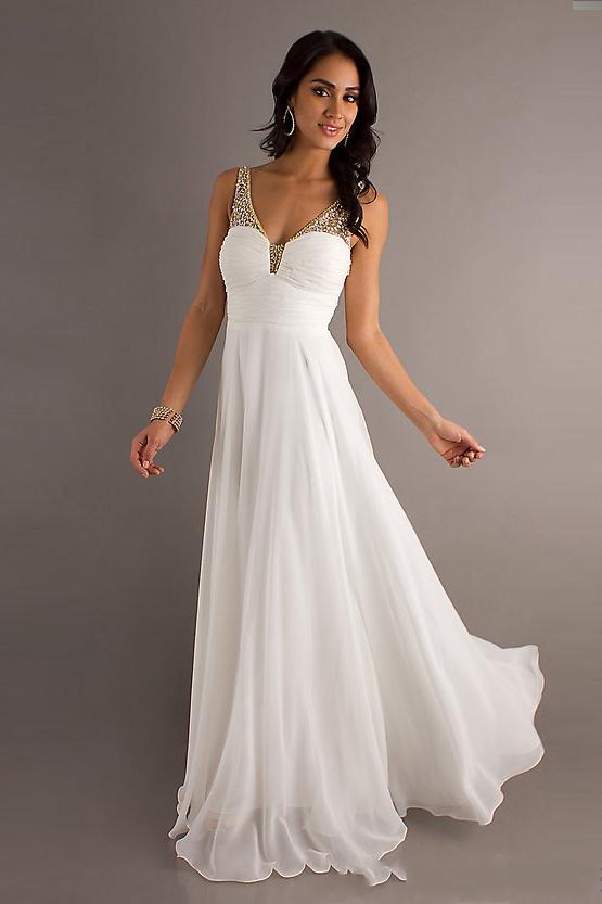 White formal dress plus size - Style Jea