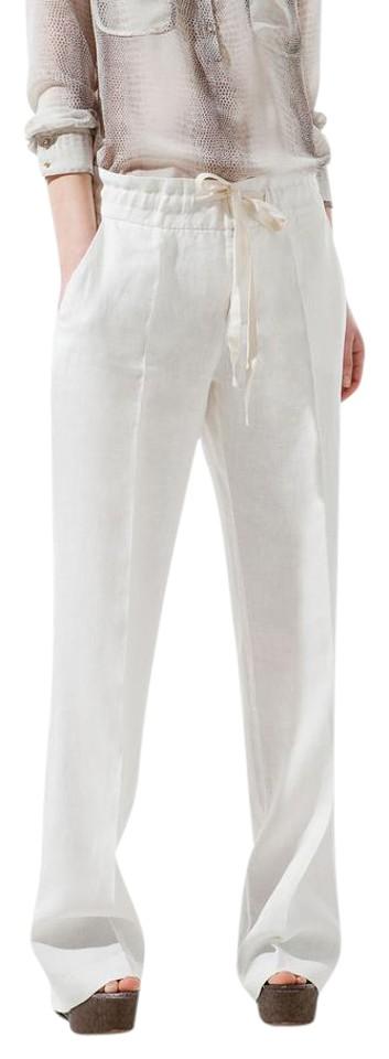 Zara White Linen Pants Size 8 (M, 29, 30) - Trade