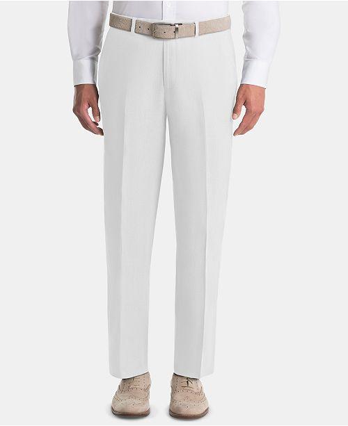 Lauren Ralph Lauren Men's UltraFlex Classic-Fit White Linen Pants .