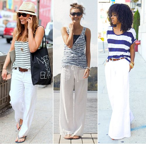 How To Wear White Linen Pants (With images)   White linen pants .