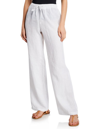 White Linen Pants   Neiman Marc