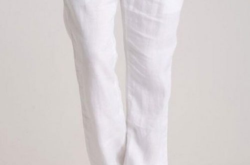 White - Linen Pants Custom pants  Tailored pants Custom tailored .