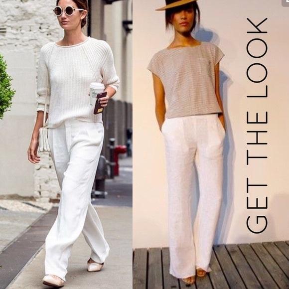 H&M Pants   Hm White Linen   Poshma