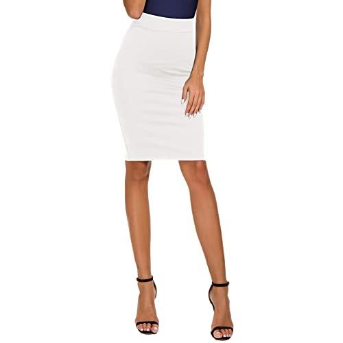 White Pencil Skirts: Amazon.c