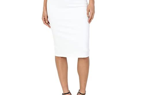 High Waist White Pencil Skirt: Amazon.c
