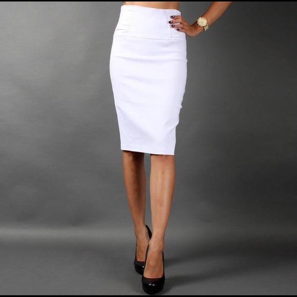 Charlotte Russe Skirts | Sold Mercari Classy White Pencil Skirt .