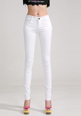Buy Women Skinny Jeans, Pencil Pants Size 26-31, White at .