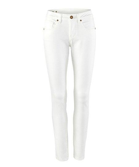 cabi White Curvy Skinny Jeans - Women | Zuli