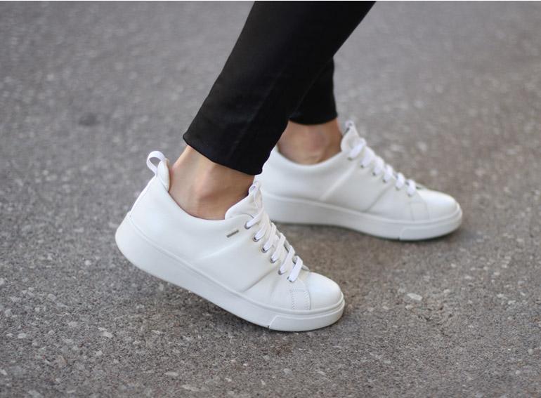 Waterproof White Sneakers - Geox Amphibi