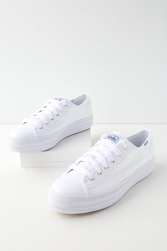 Keds Triple Kick - White Sneakers - Platform Sneake